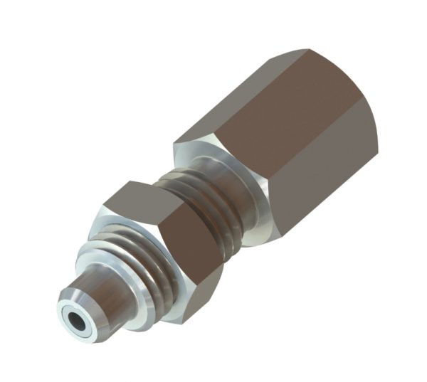 Pressure Gauge To Metric Probe Bulkhead Adaptor